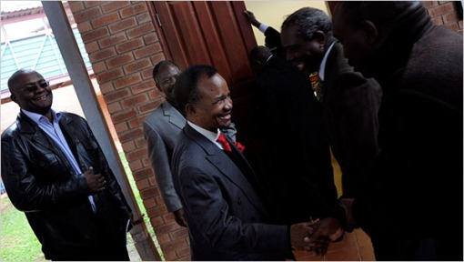 FTJ arriving at a court in Lusaka in May for a hearing on charges of corruption - Picture by Mariella Furrer for The New York Times